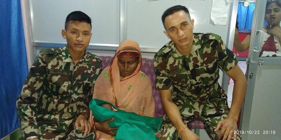 नेपाली सेनाको बहादुरी, बाल अस्पतालमा रहेको ७ दिनको बालकलाई नेपाली सेना जोगाए ज्यान
