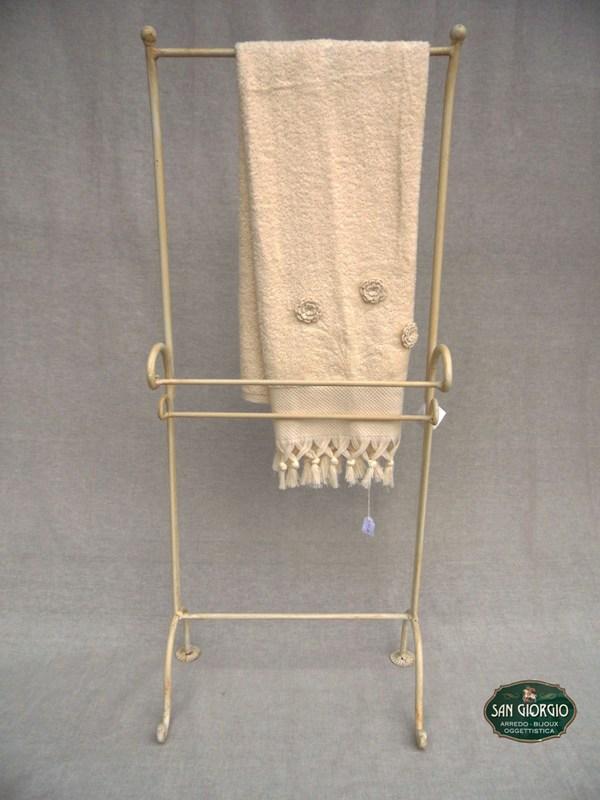Porta asciugamano su due livelli modello altof0805 san for Porta asciugamani bagno