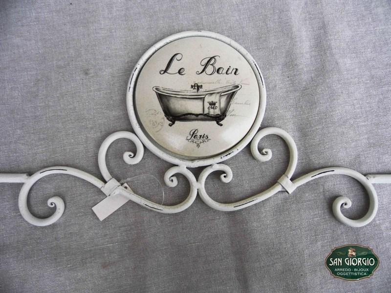Porta Asciugamani Bagno Da Muro : Porta asciugamano in ferro da muro f0904 san giorgio