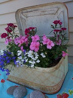 fiori,vasi,valigia,composizione