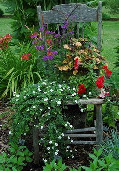 fiori,vasi,shabby,arredo shabby,giardinaggio,sedia