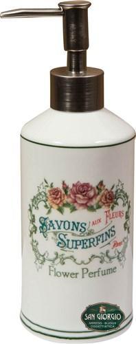 Set 4 pezzi savons superfins -flower Perfume- set bagno romantico