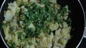 Potato bonda -coriander leaves