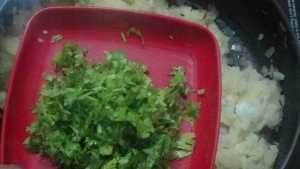 Aloo paratha -coriander