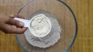Ragi roti -wheat flour