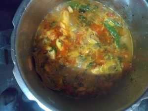Hyderabad chicken biryani- boils