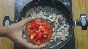 Potato gravy -tomato