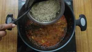 Prawn biryani -rice