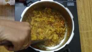 Cauliflower pepper masala -mix well