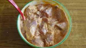 Mutton thin gravy -marination