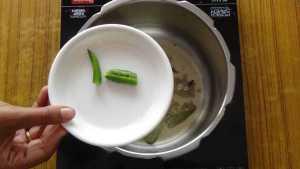 Mutton thin gravy -green chilli