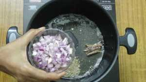 Aloo matar -onion