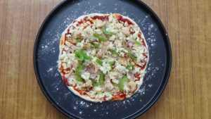 Chicken pizza -bake