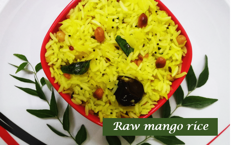 Raw mango rice -thumbnail