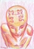 Hilbert curved brain