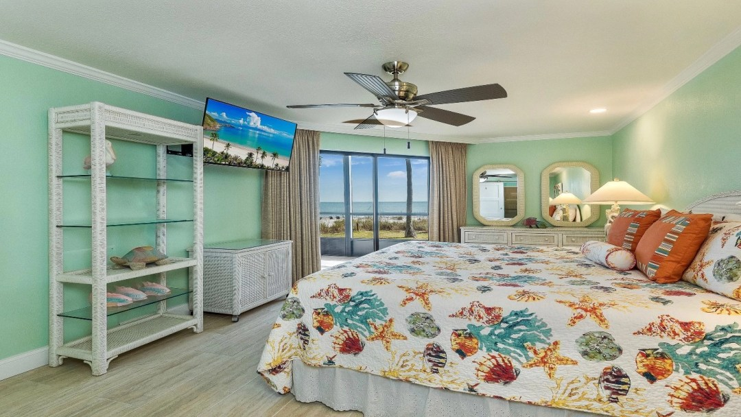 Master bedroom view of the beach