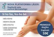 Depilación láser bajo control dermatológico