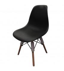 chaise scandinave noire 53x47x82cm