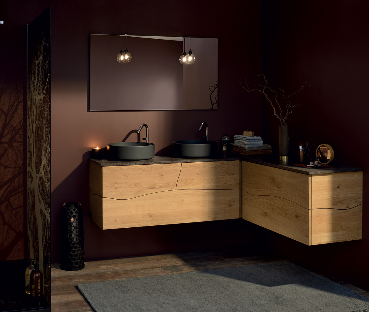 toute l authenticite du bois la gamme de meubles de salle de bain