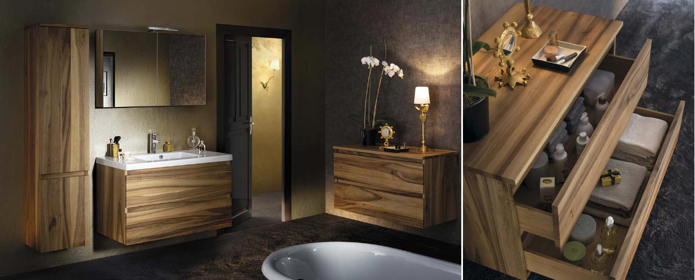 meubles de salle de bain en bois massif
