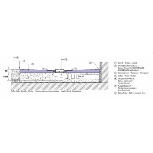 receveur a carreler 120x90 siphon vertical jackoboard aqua centre