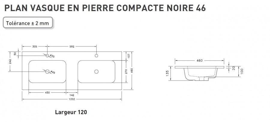 Meuble Double Vasque Swing 120 Cm Effet Beton