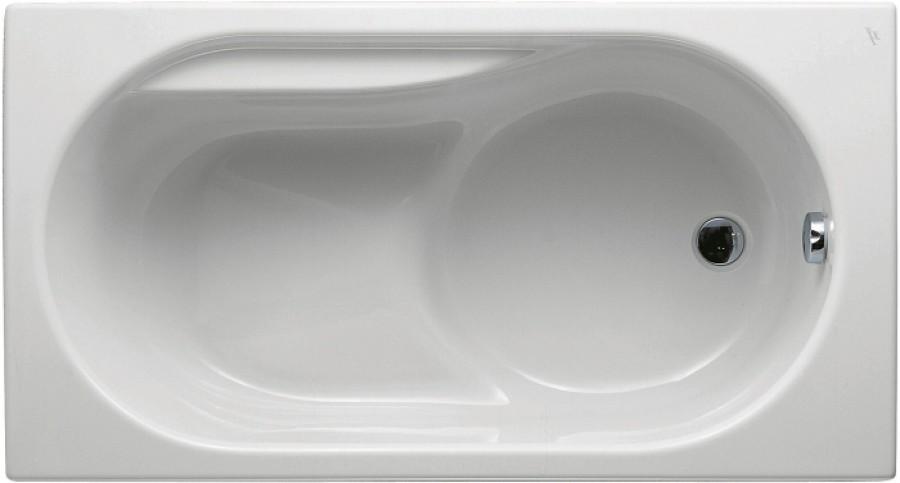 baignoire nue rectangulaire sabot praxis 120x70