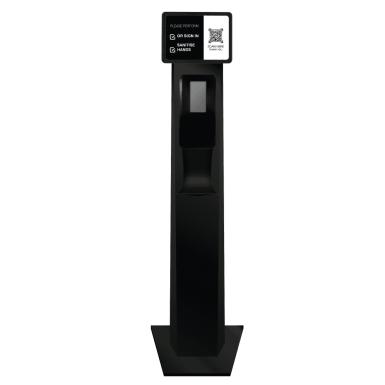 Australian Made Black Automatic Sanitiser QR Code Station