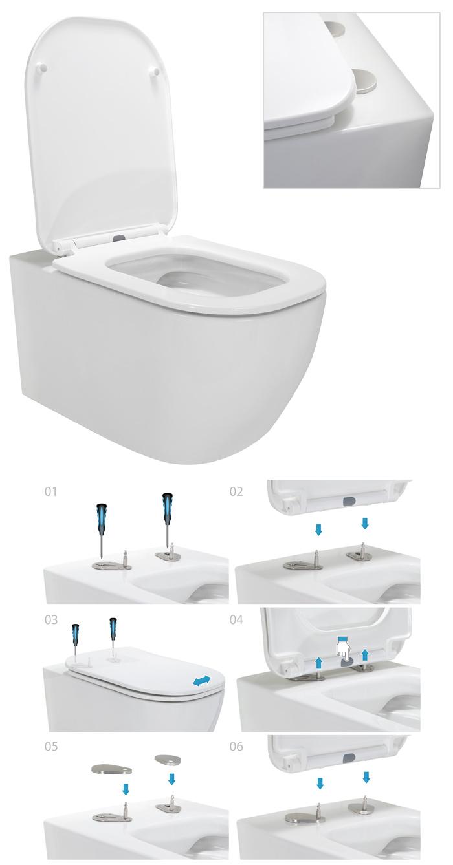 biferno wc suspendu avec abattant frein