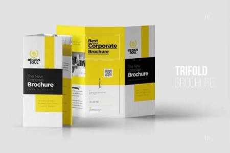 10 Best Tri Fold Brochure Templates For InDesign Corporate Trifold Brochure