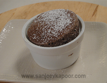 How to make Hot Chocolate Souffle, recipe by MasterChef ...