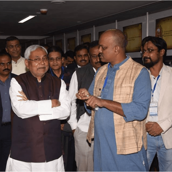 Nitish Kumar with Sanjeev Srivastwa