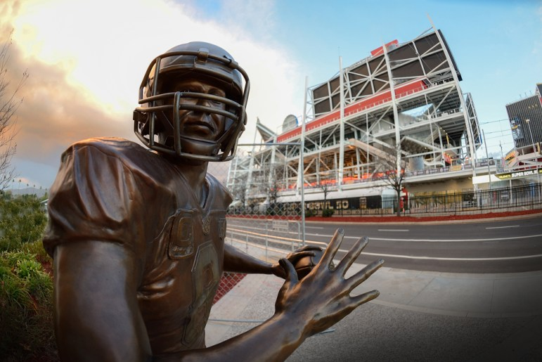 Super Bowl 50, held at Levi's Stadium, is expected to bring one million visitors  to the Bay Area. Photo by Greg Ramar)