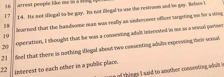 In an affidavit, Clay Morgan Parks recounts his arrest.