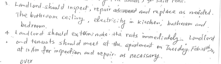 An excerpt of Katherine's arbitration agreement.