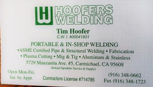 Tim Hoofer Welding