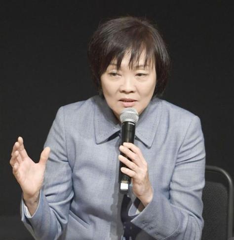 福祉をテーマにした対談会に参加した安倍昭恵首相夫人=17日午後、愛知県東海市