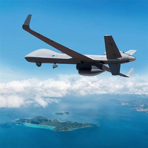 無人航空機「ガーディアン」(米ジェネラル・アトミクス・エアロノーティカル・システムズ社提供)
