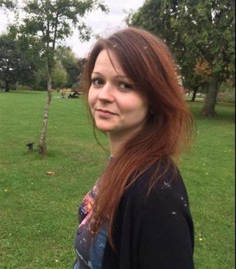 元ロシア情報機関員セルゲイ・スクリパリ氏の娘ユリアさんとみられる写真(フェイスブックから、AP)