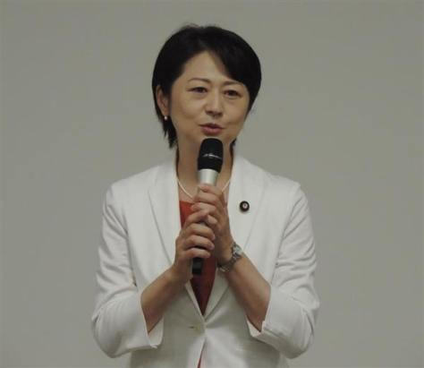 希望の党の行田邦子幹事長(黄金崎元撮影)