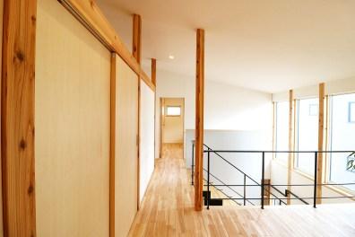 AKITA×DESIGN STANDARD300 由利本荘モデルハウス 2階 廊下