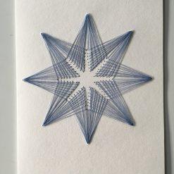 Nr 3 Stern vanille-blau