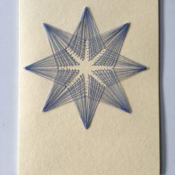 Nr 4 Stern creme-blau