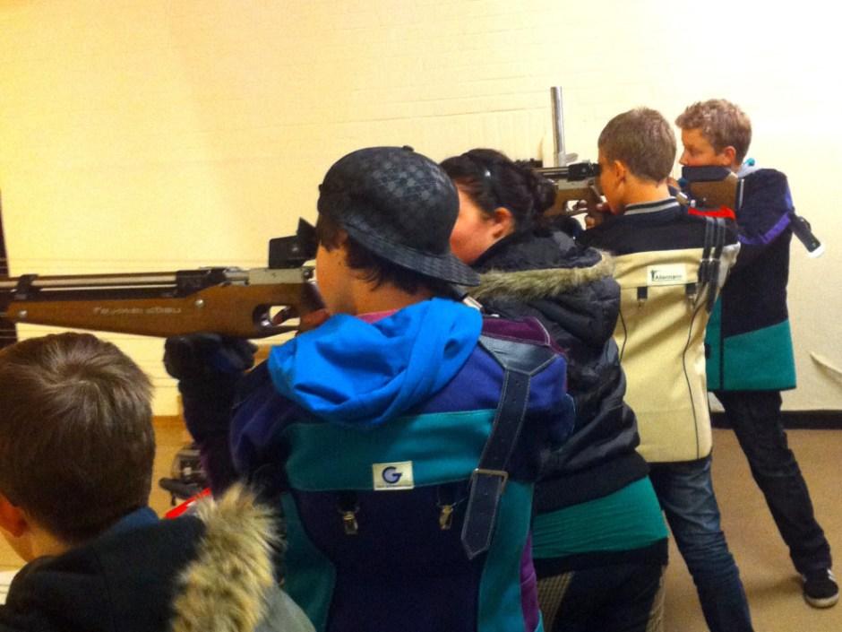 Schießtraining der Jungschützen
