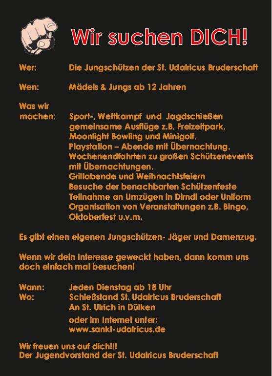 Plakat: Wir suchen dich.