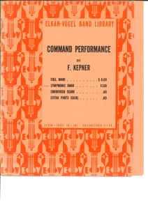 吹奏楽譜「コマンド・パフォーマンス/ケプナー作曲」:割引セール中!