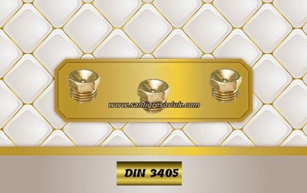 Flush Type greasenipple type L brass (D1) DIN 3405 180°