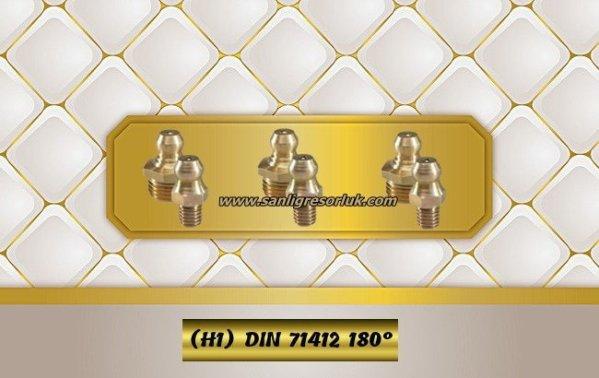 Hydraulic grease nipple HR (H1) Brass DIN 71412