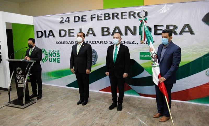 En acto cívico virtual, estudiantes de Soledad hicieron juramento a la Bandera