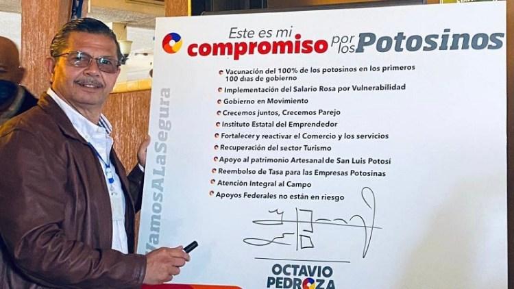 Promete Octavio Pedroza vacunación vs Covid al 100 % para reactivar la economía